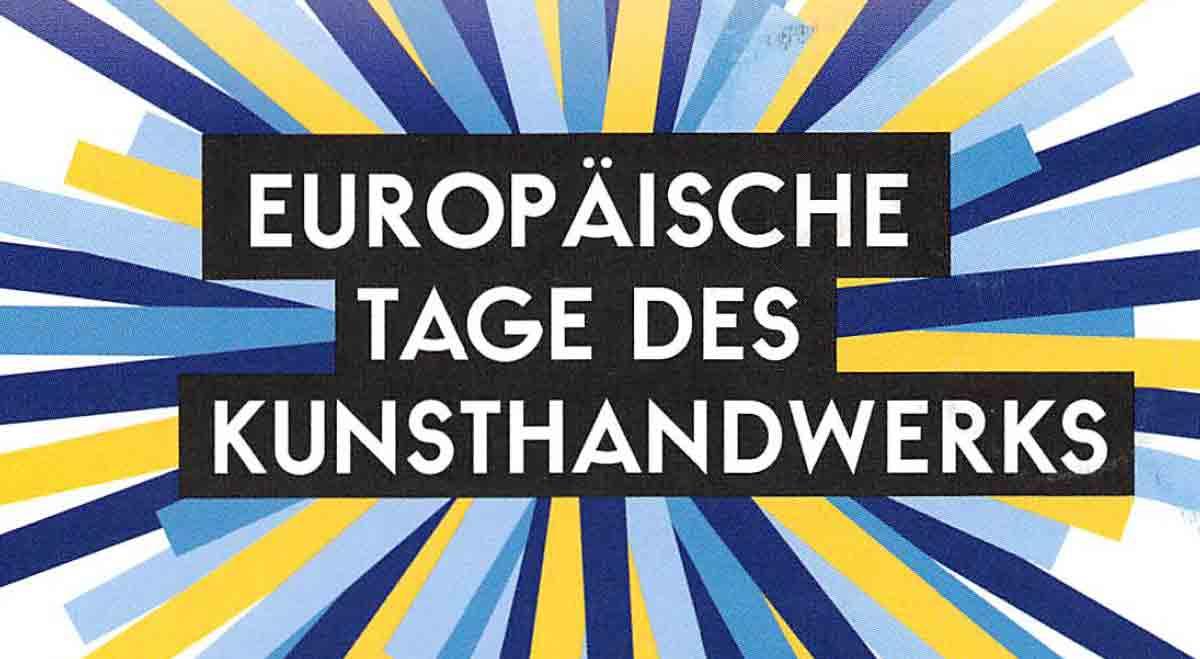 europäische tage des kunsthandwerkes in der handwerkstatt